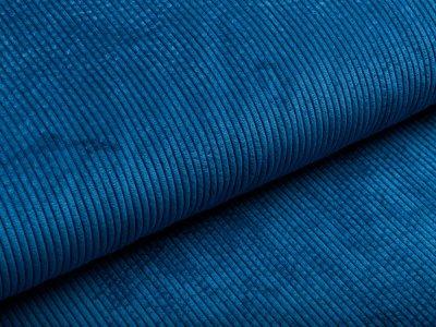 Cord - uni jeansblau
