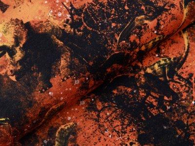 Jersey Digitaldruck Jurassic World - Dinos - schwarz / orange