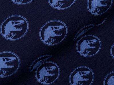 Jersey Digitaldruck Jurassic World - Dinos im Kreis - dunkles blau