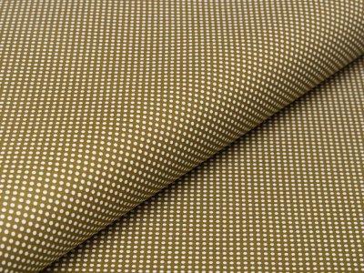 Webware Baumwolle - kleine Punkte - olive