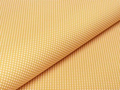Webware Baumwolle - kleine Punkte - ocker