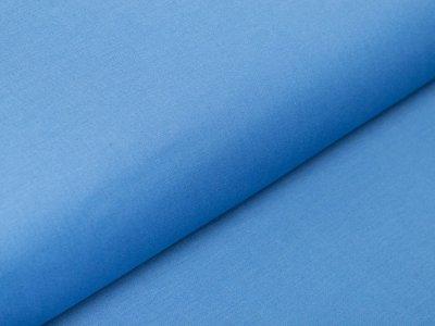Italienische Stretch Webware Baumwolle - leicht glänzend - uni blau