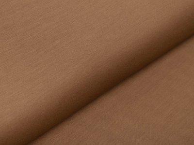 Italienische Stretch Webware Baumwolle - leicht glänzend - uni rehbraun