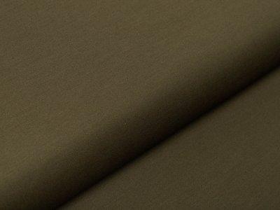 Italienische Stretch Webware Baumwolle - leicht glänzend - uni olive