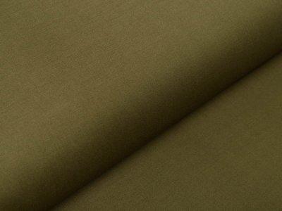 Italienische Stretch Webware Baumwolle - leicht glänzend - uni olivgrün