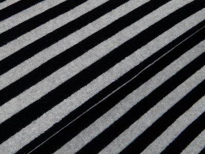 Frottee - Streifen - grau