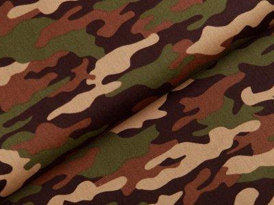 Webware Baumwolle Popeline - Camouflage - olive