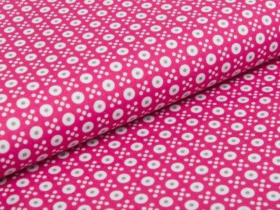 Webware Baumwolle Swafing Jasmin - kleine Kreise und Kreuze - pink