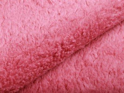Zottelfleece - uni rosa