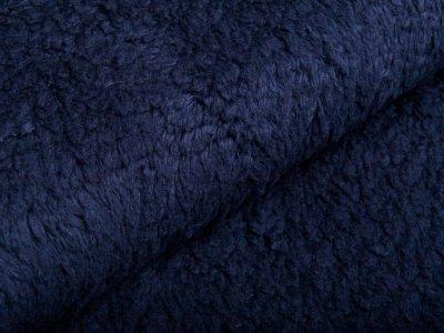 Zottelfleece - uni marineblau