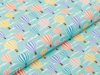 Webware Baumwolle Swafing Kim - Heißluftballons - mint