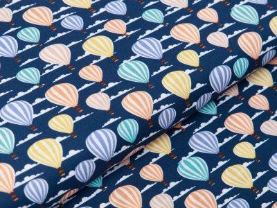 Webware Baumwolle Swafing Kim - Heißluftballons - dunkles blau