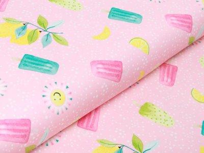 Jersey Swafing Sun & Lemon - leckeres Eis und Sonnenschein auf Punkten - rosa
