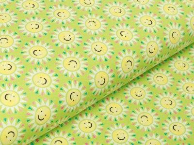 Jersey Swafing Sun & Lemon - freundliche Sonnen - grün