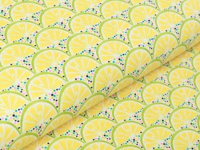 Jersey Swafing Sun & Lemon - Zitronenscheiben - gelb