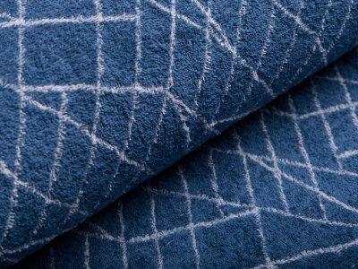 Frottee Jacquard Little Darling - geometrische Muster - blau