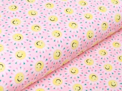 Jersey Swafing Sun & Lemon - freundliche Sonnen - rosa