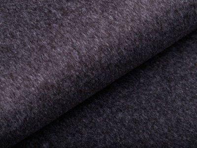 Tweed Wolloptik - uni dunkelgrau