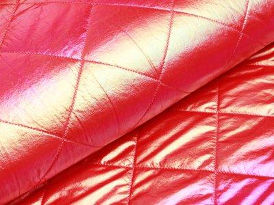 Rautenstepper mit Fellabsatz Little Darling - Hologramm - pink
