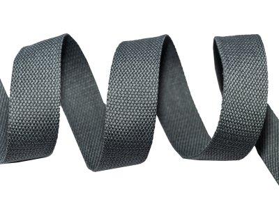 Gurtband Baumwolle 5 Meter Rolle - 30 mm - uni grau