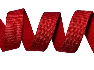 Gurtband Baumwolle 5 Meter Rolle - 30 mm - uni rot