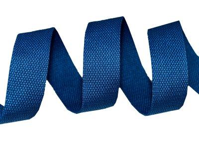 Gurtband Baumwolle 5 Meter Rolle - 30 mm - uni blau