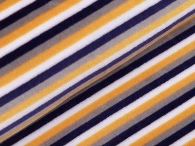 Nicki - Streifen - weiß/ocker