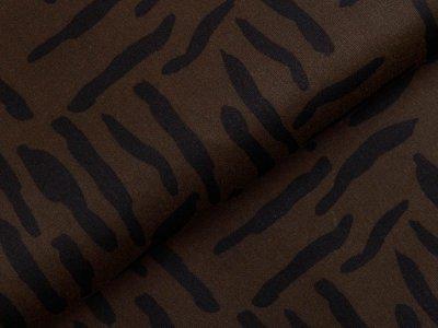 Oilskin Heavy gewachste Baumwolle - Animalprint Zebra - olive