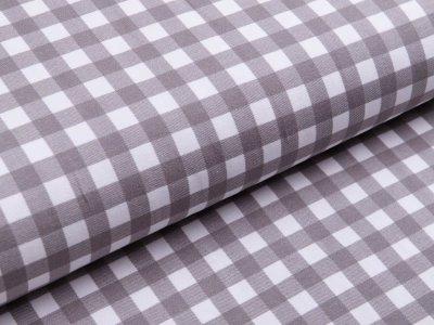Jersey Avalana - Vichy-Karo 1 x 1 cm - weiß/grau
