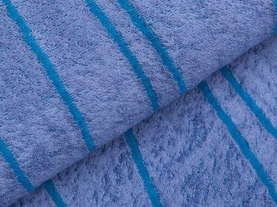 Frottee Jacquard by Tillisy - vereinzelte Streifen - blau