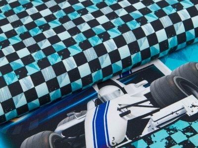Jersey Digitaldruck Stenzo PANEL ca. 80 x 150 cm - Rennfahrer - blau