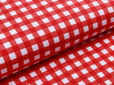 Jersey Avalana - Vichy-Karo 1 x 1 cm - weiß/rot