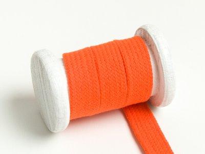 Flache Baumwoll Kordel / Band Hoodie / Kapuze 18 mm breit orange