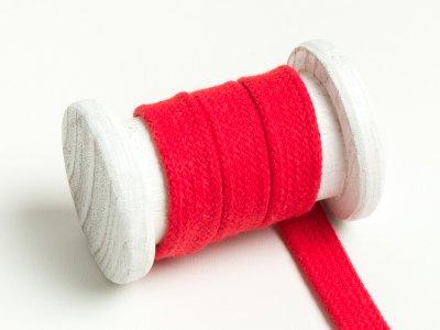 Flache Baumwoll Kordel / Band Hoodie / Kapuze 18 mm breit rot