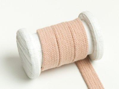 Flache Baumwoll Kordel / Band Hoodie / Kapuze 18 mm breit beige