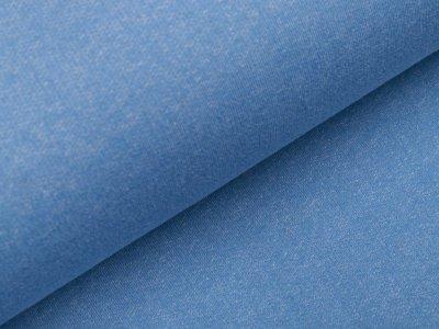 Angerauter Sweat - meliert jeansblau