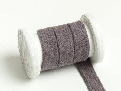 Flache Baumwoll Kordel / Band Hoodie / Kapuze 18 mm breit dunkelgrau
