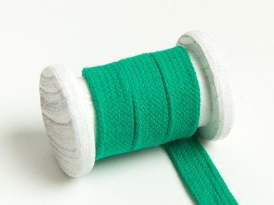 Flache Baumwoll Kordel / Band Hoodie / Kapuze 18 mm breit grün