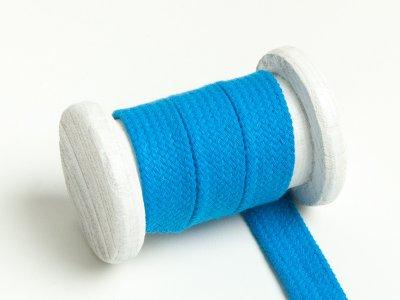 Flache Baumwoll Kordel / Band Hoodie / Kapuze 18 mm breit türkisblau