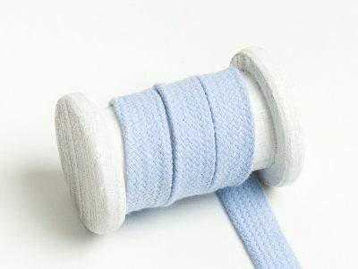 Flache Baumwoll Kordel / Band Hoodie / Kapuze 18 mm breit hellblau
