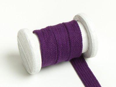 Flache Baumwoll Kordel / Band Hoodie / Kapuze 18 mm breit violett