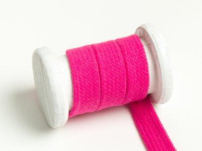 Flache Baumwoll Kordel / Band Hoodie / Kapuze 18 mm breit pink