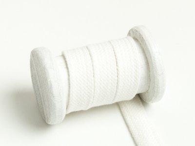 Flache Baumwoll Kordel / Band Hoodie / Kapuze 18 mm breit creme