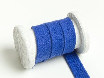 Flache Baumwoll Kordel / Band Hoodie / Kapuze 18 mm breit kobaltblau