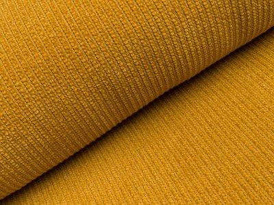 Chenille Strickstoff - Rippstrick - gelb