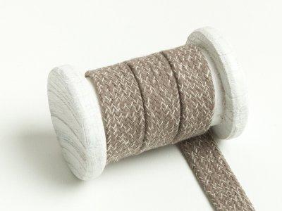 Flache Baumwoll Kordel / Band Hoodie / Kapuze 20 mm breit meliert sand