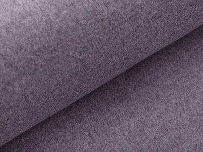 Wollstoff - meliert grau