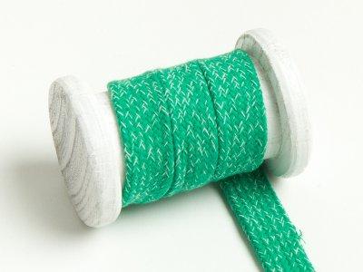 Flache Baumwoll Kordel / Band Hoodie / Kapuze 20 mm breit meliert apfelgrün
