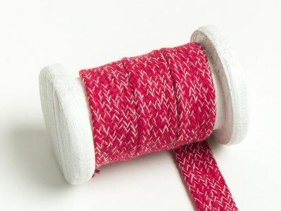 Flache Baumwoll Kordel / Band Hoodie / Kapuze 20 mm breit meliert rot