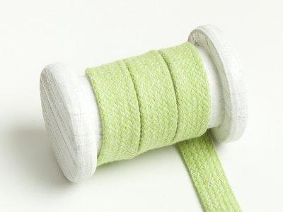 Flache Baumwoll Kordel / Band Hoodie / Kapuze 20 mm breit meliert lime